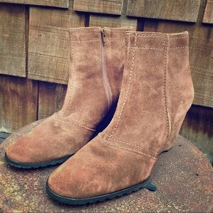 Franco Sarto Suede ankle boot